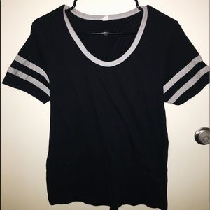 Tops - Black Baseball Tee